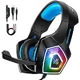 Bovon Cascos Gaming, Auriculares PS4 con...