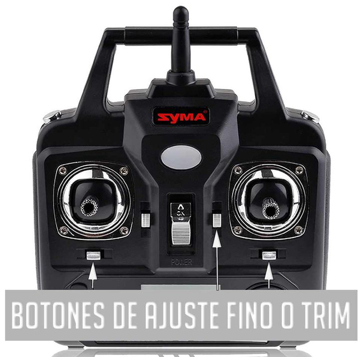botones trim drones