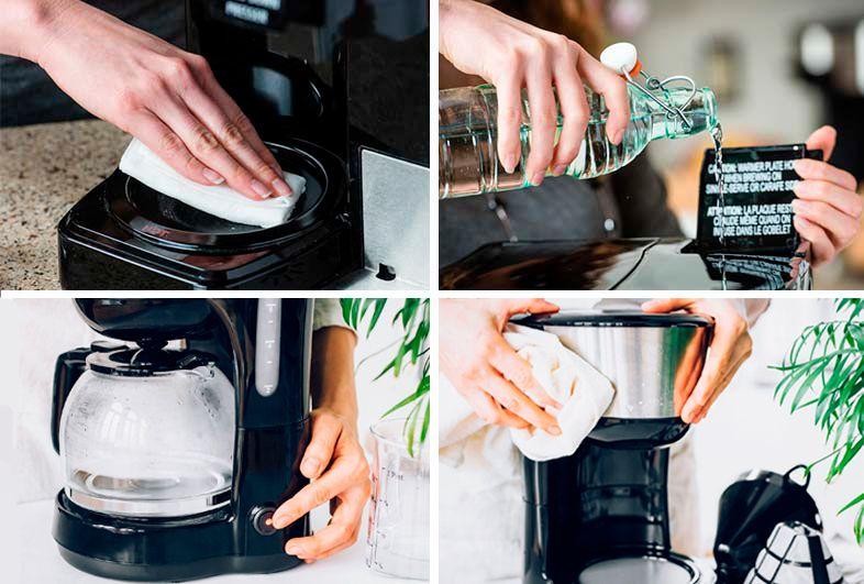 como limpiar cafetera