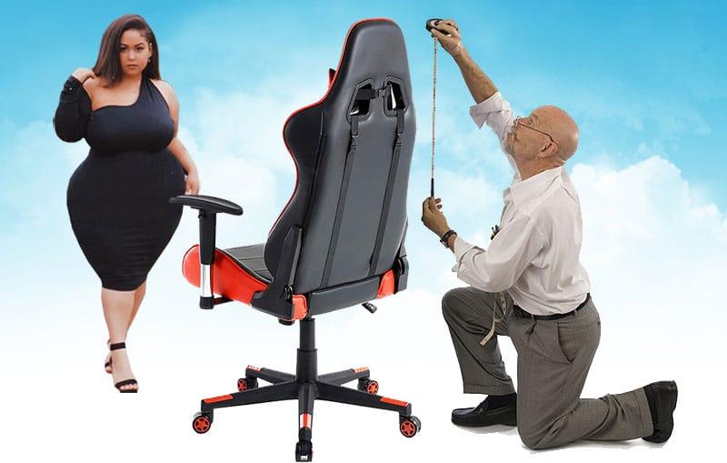 altura y peso silla gaming