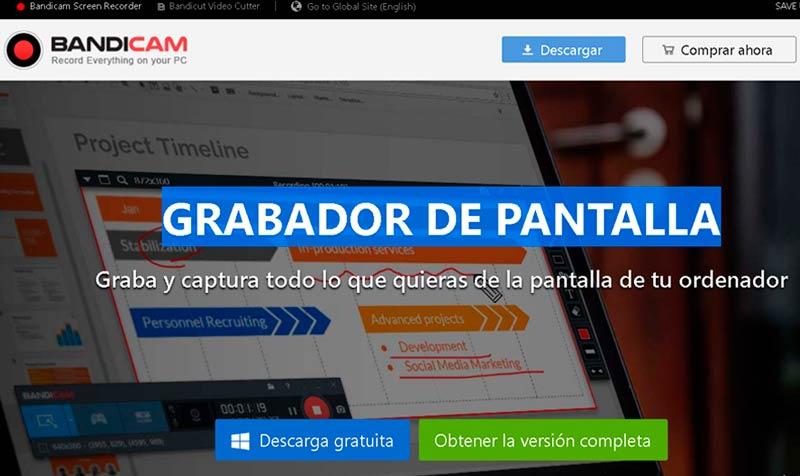 Grabador de pantalla Bandicam