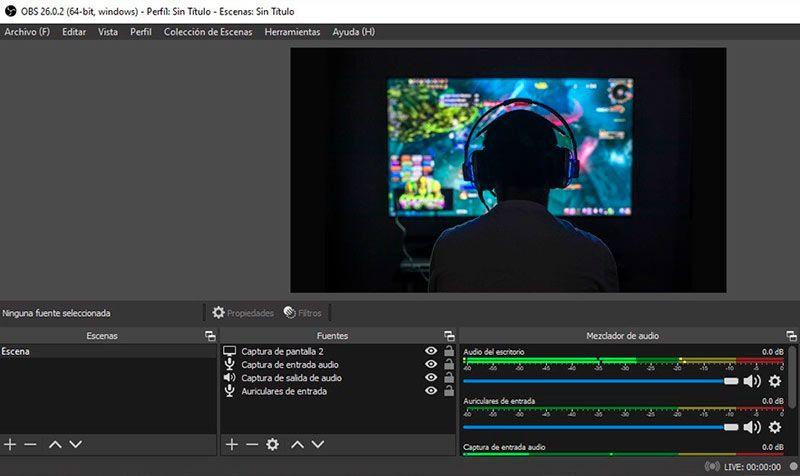 Grabador de pantalla OBS Studio