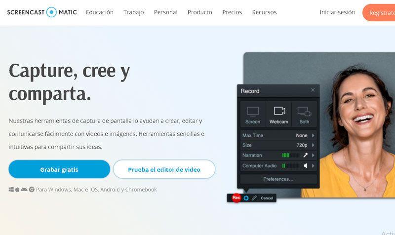 Grabador de pantalla Screencast-O-Matic