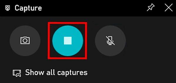 detener grabacion barra de juegos windows
