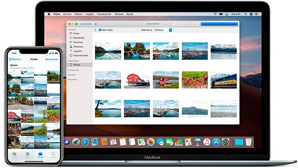 Pasar fotos de iPhone a Mac