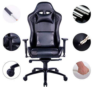 materiales silla gaming barata