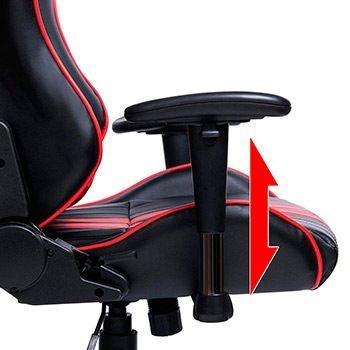 silla gaming con reposabrazos 3d